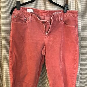 Soft salmon colored corduroy pants - Gap